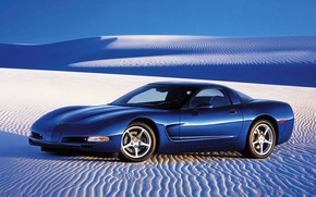 Обои авто, пустыня, песок