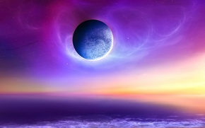 Обои море, небо, планета, космос