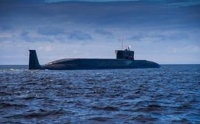 """Картинка подводный, крейсер, атомный, """"Юрий Долгорукий"""""""