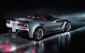 Обои chevrolet, corvette z06, convertible, car, корвет