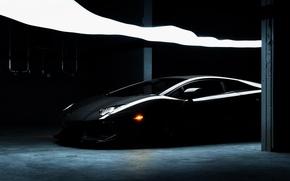 Картинка Lamborghini, Ламборджини, чёрная, black, Ламборгини, LP700-4, Aventador, Авентадор