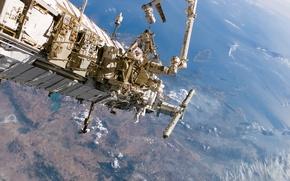 Картинка поверхность, Космос, МКС, планета Земля