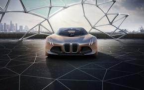 Картинка машина, авто, будущее, concept, BMW, future, БМВ, концепт, Vision, автомобиль, 100 лет, years, 100, Next