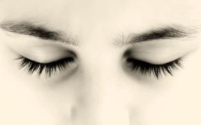 Картинка глаза, портрет, брови
