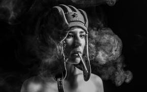Картинка взгляд, девушка, сигарета