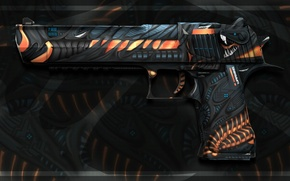 Картинка существо, desert eagle, workshop, cs go, custom paint job, meres