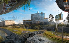 Картинка город, апокалипсис, Москва, разруха, пустош, Skolkovo-St.Petersburg II