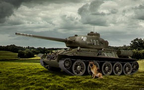 Картинка Игры, game, Танк, weapon, Т-34, world of tanks, tank, Мир Танков, Rudy, Руди, Четыре танкиста …
