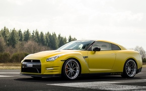 Картинка GTR, Nissan, Wheels, Strasse