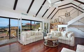 Картинка дизайн, фото, диван, интерьер, гостиная