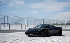 Обои ferrari, 458 speciale, black, феррари, чёрный