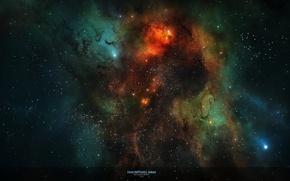 Картинка звезды, свет, туманность, созвездие, nebula, межзвездный газ