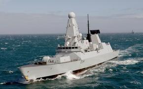 Картинка море, флот, эсминец, королевский, HMS Diamond, (D34)