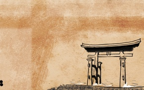 Картинка япония, синтоизм, японский стиль, тории