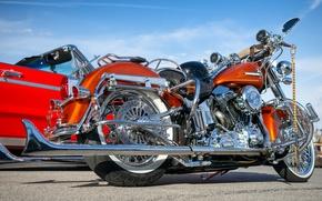 Картинка стиль, Harley Davidson, байк