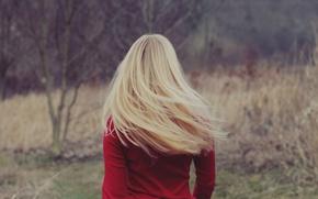 Фото блондинок со спины со средними волосами со спины