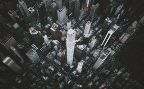 Картинка город, небоскребы, США, Нью Йорк, высотки