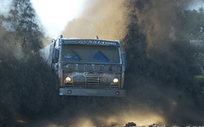 Обои грузовик, камаз, грязь, off, road, машины