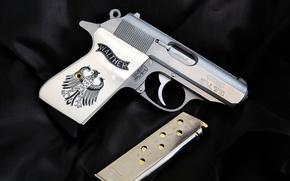 Картинка оружие, самозарядный, Walther, PPK/S, пистолет