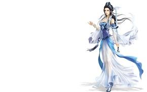 Картинка девушка, фентези, игра, меч, воин, арт