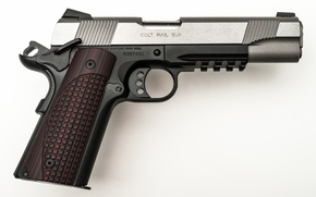 Картинка metal, gun, Colt rail gun
