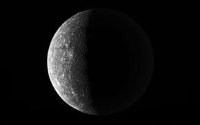 Обои Черная, Луна, Кратеры