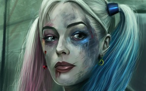 Обои арт, Harley Quinn, Марго Робби, Suicide Squad, Margo Robbie, Отряд самойубийц