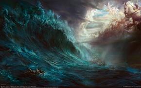 Картинка море, волна, битва, гибель, dehong he