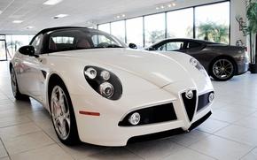 Обои Alfa, Romeo, белый.цвет