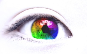 Картинка ресницы, Глаз, разноцветный