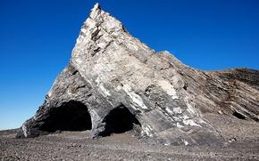 Картинка небо, камни, Россия, север, Таймыр, пещера Миддендорфа