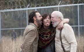 Обои настроения, языки, The Walking Dead, Ходячие мертвецы, Andrew Lincoln, Norman Reedus, Scott Wilson
