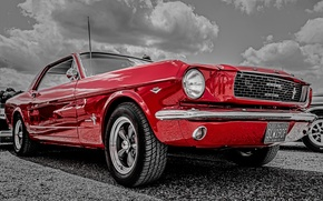Картинка Mustang, Ford, передок, 1966