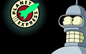 Картинка Futurama, Planet, Bender, Express