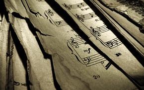 Обои ноты, нотная грмамота, музыка