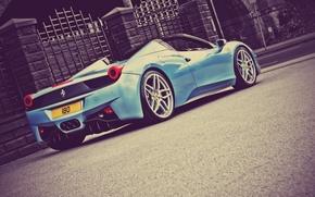 Картинка Ferrari, 458, Italia, Spider, A Kahn Design, Back View