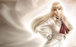 Картинка взгляд, девушка, блондинка, перчатки, sexy, Tekken, Lili