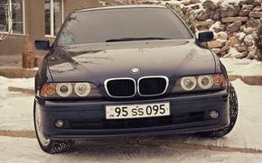 Картинка BMW, e39, angel eyes, 520