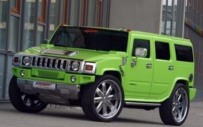 Картинка green, Hummer, tuning, geiger