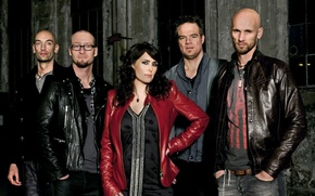 Картинка dark, metal, blue, Рок, promo, symphonic, sharon den adel, within temptation, the unforgiven