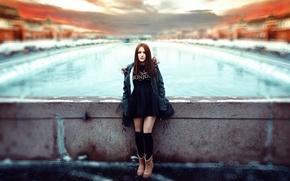 Картинка холод, девушка, город, обработка, Москва, юбочка, Ivan Gorokhov