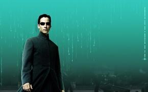 Картинка Нео, Киану Ривз, Матрица, Keanu Reeves, The Matrix