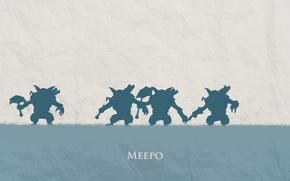 Картинка минимализм, hero, брат за брата, геомансер, geomancer, meepo, Defense of the Ancients, DotA 2, Мипо, ...