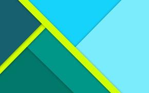 Картинка линии, зеленый, голубой, геометрия, design, color, material