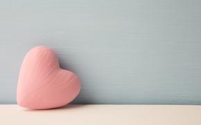 Картинка фон, стена, сердце, розовое