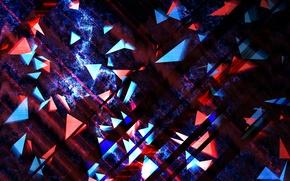 Картинка свет, узор, цвет, фигура, треугольник, слой