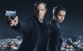 Картинка Мэтт Дэймон, Matt Damon, Алисия Викандер, Alicia Vikander, Jason Bourne, Джейсон Борн