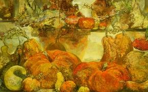 Картинка фон, widescreen, обои, картина, тыква, wallpaper, груша, овощи, широкоформатные, background, красивые обои, обои на рабочий …