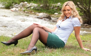 Картинка sexy, smile, blonde, jodie gasson