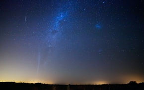 Картинка спутник, метеор, комета, Lovejoy, Магелановы облака